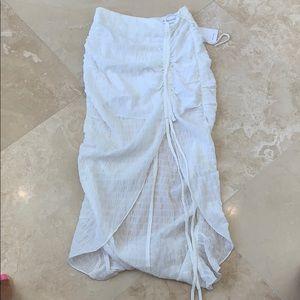 Mini white skirt